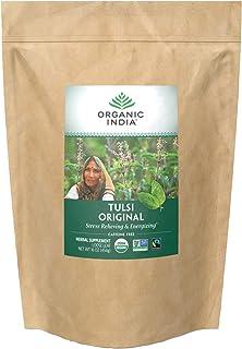 Organic India Tulsi Original Loose Leaf Herbal Tea - Immune Support, Vegan, Gluten-Free, Kosher, USDA Certi...