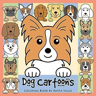 Dog Cartoons Coloring Book
