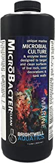 Brightwell Aquatics MicroBacter Clean - Microbial Culture & Enzyme Blend Designed to Target & Clean Surfaces of Aquatic Ta...