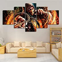 Home Decor 5 Panel Canvas HD Print Mortal kombat Game Picture Poster For Living Room Wall Art Paintings