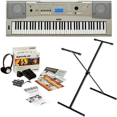 Yamaha YPG-235 Gran piano portátil de 76 teclas con soporte para teclado X-Style y kit de supervivencia (incluye fuente de alimentación y 2 años de ...