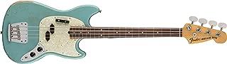 Fender JMJ Signature Series Road Worn Mustang Bass - Rosewood Fingerboard - Faded Daphne Blue