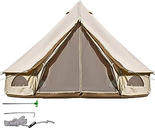 BuoQua Tienda de Campaña 10-12 Personas/ 6M Yurta Mongolia Tiendas Camping Tienda Yurta Mongola Tienda de Campaña Familiar Montaje Rápido Tienda de Campaña al Aire Libre