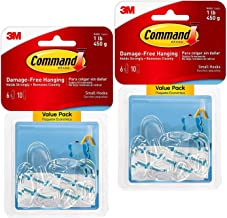 Command 2-packages of Small Oval Hooks, 12 hooks total, Clear, Decorate Damage-Free (17092CLR-6ES)