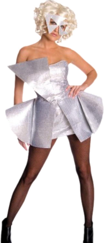 Confettery - Damen Karnevalskomplettkostüm Mini Kleid verrückte Lady , S, Weiß-Silber B074KZ7VG1  Qualität und Verbraucher an erster Stelle    Exquisite (in) Verarbeitung