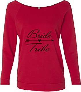 "Women's Cute Wedding ""Bride Tribe Sweat Shirt - Bridesmaids T-Shirt Gift"