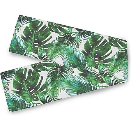 Design Imports Set of 4 Palm Leaf NapkinsTropical Green White Beige Lunch Dinner