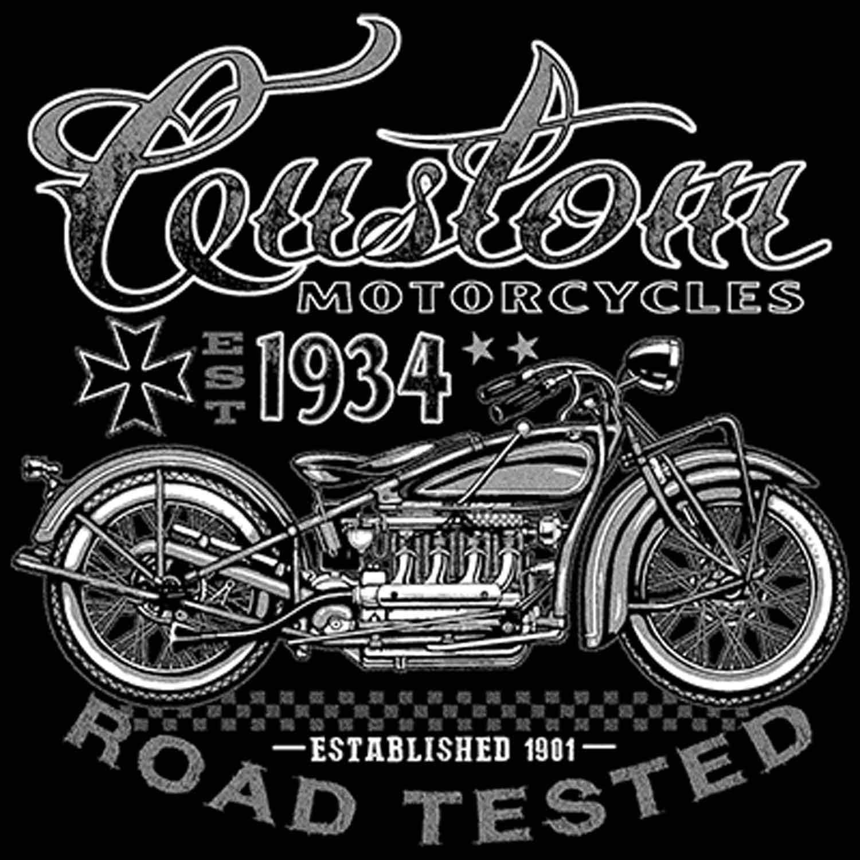 Custom Motorcycles Road Tested Printed T-Shirt