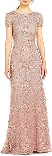 Women's Scoop Back Sequin Gown