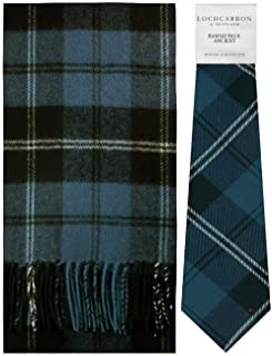 Scarf & Tie Gift Set Ramsay Blue Ancient Tartan Scottish Clan