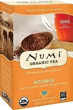 Numi Organic Tea Rooibos, 18 Count Box of Tea Bags (Pack of 3) Herbal Teasan (Packaging May Vary)