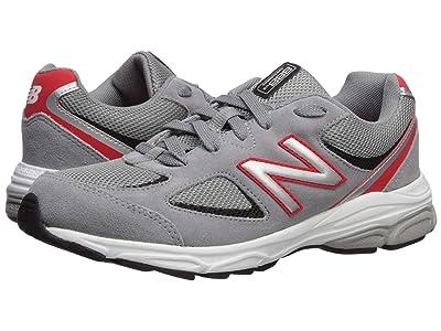 New Balance Kids 888v2 (Big Kid) (Steel/Velocity Red) Boys Shoes