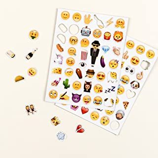 Emoji Magnet Packs Stickers Fun Emoji Faces for Kids and Adults. Perfect Journal Gift for Stocking Stuffer This Holiday Season, Emoji Emotion Symbols, Adhesive Stickers, Emojis Faces Icons