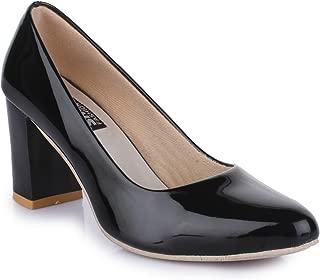 Trendy Fashion Women Black Block Heels