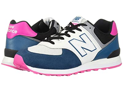 New Balance Classics ML574 Pebbled Sport (Dark Neptune/Peony) Men