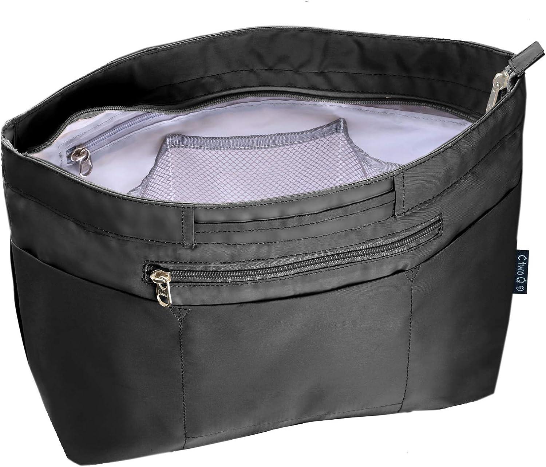 C two Q バッグインバッグ インナーバッグ 軽量 自立 大容量 収納 バッグ ブラック