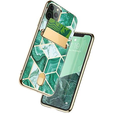 "i-Blason Cosmo Wallet Slim Designer Wallet Case for Apple iPhone 11 Pro Max (2019), 6.5"", Green"