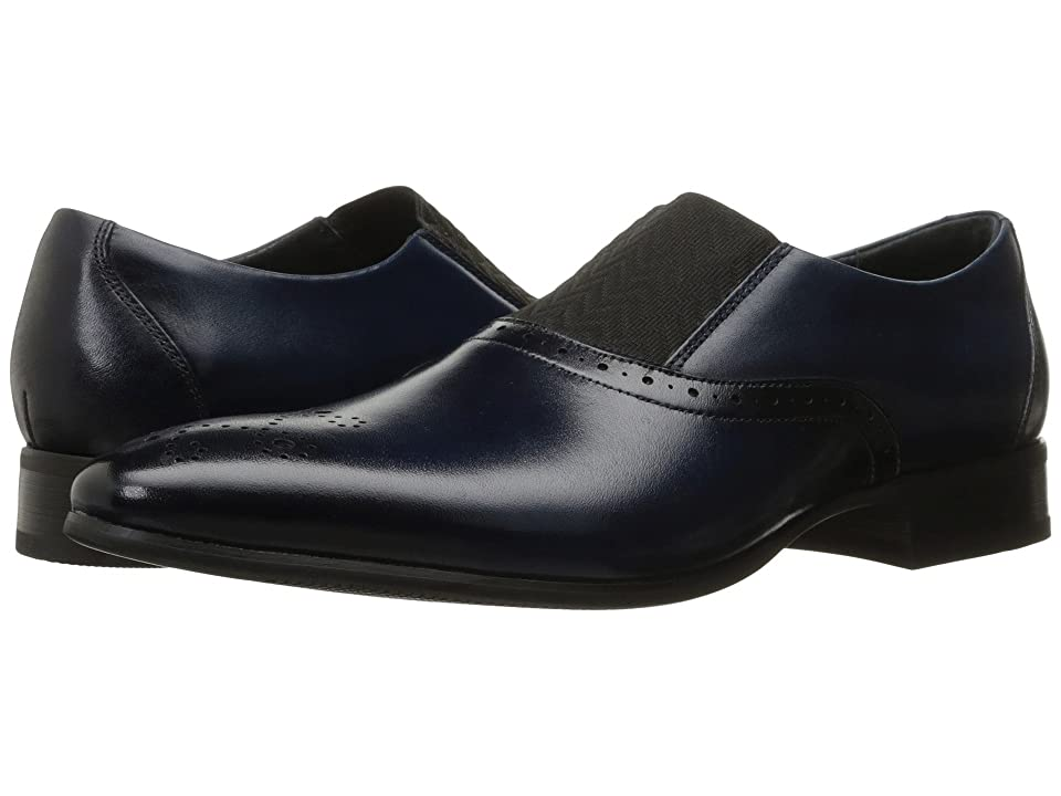 Mens Vintage Style Shoes| Retro Classic Shoes Stacy Adams Valerian Ink Blue Mens Shoes $90.00 AT vintagedancer.com