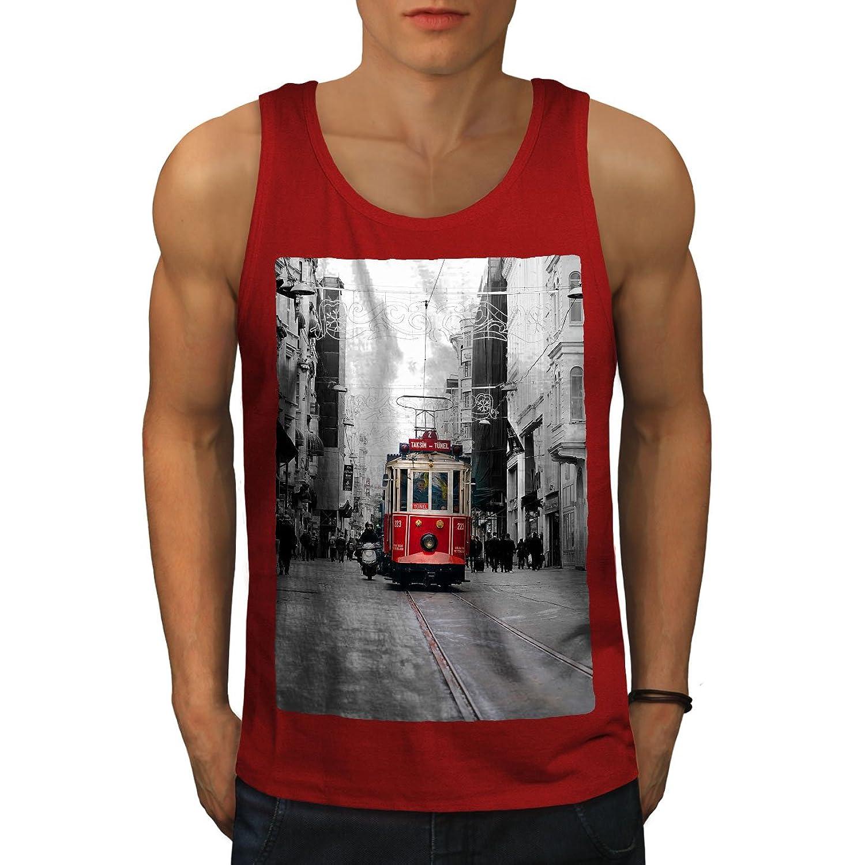 Wellcoda トラム シティ 都市 ファッション 男性用 S-2XL タンクトップ