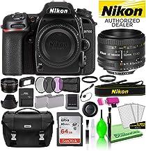 $1055 » Nikon D7500 DSLR Digital Camera with AF 50mm f/1.8D Lens (1581) USA Model Deluxe Bundle -Includes- Sandisk 64GB SD Card + Nikon Gadget Bag + Filter Kit + Spare Battery + Telephoto Lens + More