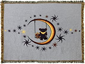 Little Hippie Grateful Dead Terrapin & Bear Moon Swing Woven Cotton Blanket