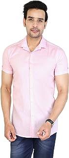JAI TEXTILES Men's Cotton Solid Half Sleeve Shirt