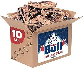 ValueBull Beef Lung Sticks, Premium 10 Pound - Angus Beef Dog Treats, Grass-Fed, Single Ingredient