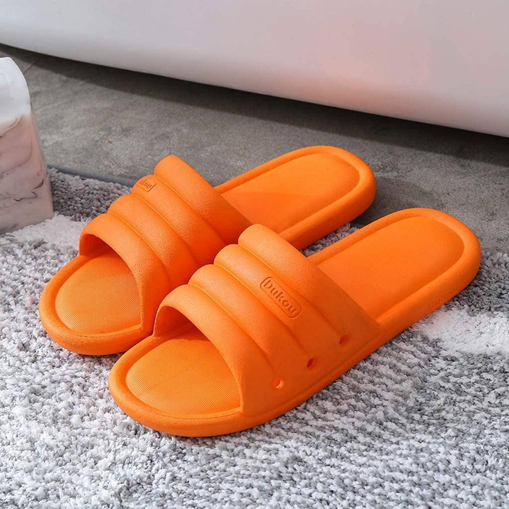 Smniao Damen Hausschuhe Dusche Badeschuhe Weiche rutschfeste Slide Badeschlappen Slipper Strand Sandale Badelatschen