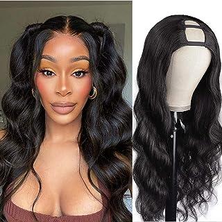 K'ryssma Body Wave U Part Wig Human Hair Wigs for Black Women 180% High Density Natural Color 100% Brazilian Glueless Full...