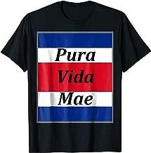 costa rica pura vida mae t-shirt