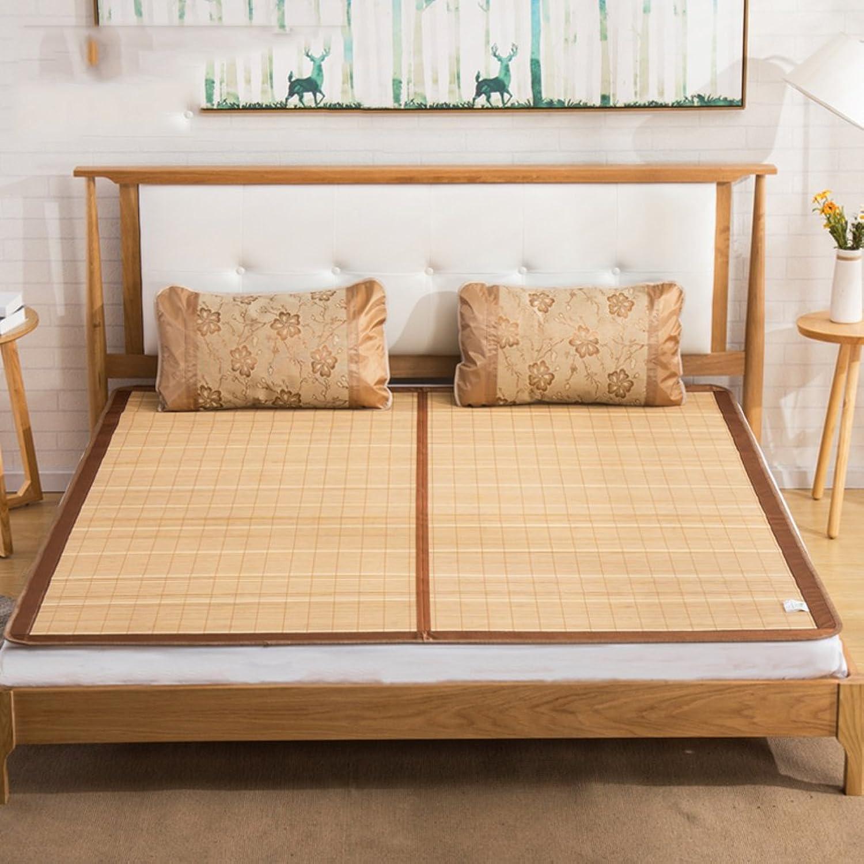 Double-Sided Bamboo mat, Summer Collapsible Summer Mattress Cool pad Sleeping mat Student Individual Mattress Topper -A 120x190cm(47x75inch)