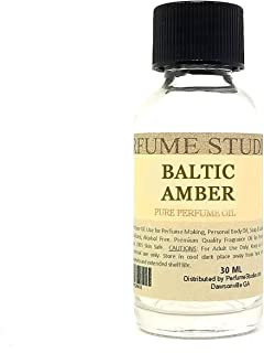 Baltic Amber Perfume Oil - An Oriental Scent with Majestic Accords White Sandalwood and Pure Amber Resins (30ML CLEAR BOTTLE)