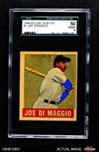 1948 Leaf # 1 Joe DiMaggio New York Yankees (Baseball Card) SGC 4 - VG/EX Yankees