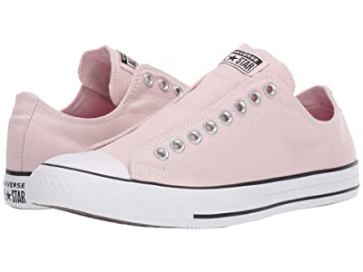 Converse Chuck Taylor All Star Slip-On Sneaker Slip (Barely Rose/Black/White) Shoes