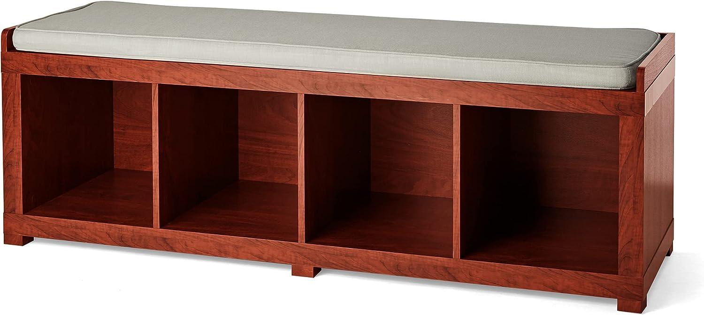 Better Homes and テレビで話題 Gardens 4-Cube Mahogan Bench アウトレットセール 特集 Organizer Storage
