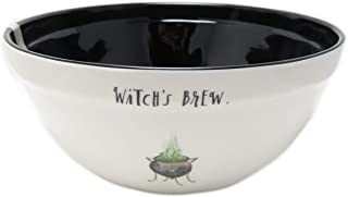 Rae Dunn By Magenta WITCH'S BREW. Script Melamine Cauldron Icon Mixing Bowl With Black Interior