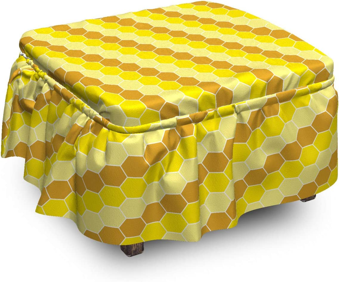 Lunarable Max 59% OFF Geometric Ottoman Cover Honeycomb Jacksonville Mall Repetition Art P 2