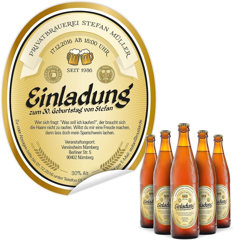 Flaschenetikett als Einladung (20 Stück) Stück) Stück) - Bier in Gelb – Bieretikett für Bierflaschen B01M141GS1   Erschwinglich    Der neueste Stil    Online Shop Europe  9a0da1