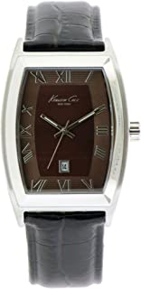 Kenneth Cole New York Silver with Croco-Embossed Strap Men's watch KC1916