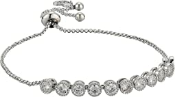 Blue by Betsey Johnson Chain Bracelet with Cubic Zirconia Stones and Adjustable Slider