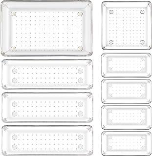NEWSTYLE Rangement tiroir, Système d'organisateur de tiroir séparé avec 4 Tailles, 9 Anti-dérapant Organisateur Tiroir sys...