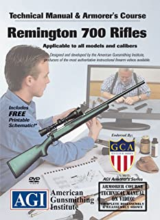 American Gunsmithing Institute Armorer's Course Video on DVD for Remington 700 Rifles - Technical Instructions for Disassembly, Cleaning, Reassembly and More