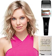Bundle - 5 items: Scarlett Petite Cap Wig by Jon Renau, Christy's Wigs Q & A Booklet, 2oz Travel Size Wig Shampoo, Wig Cap & Wide Tooth Comb - Color: 12FS8