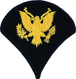 Specialist E-4 Army Chevrons - Gold on Blue