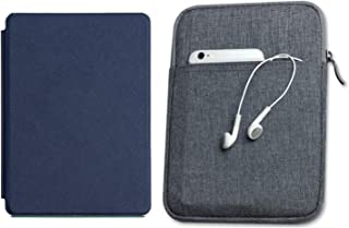 Capa Kindle Paperwhite 10ª geração à prova d'água Azul Marinho - Função Liga/Desliga - Fechamento magnético + Bolsa Sleeve...