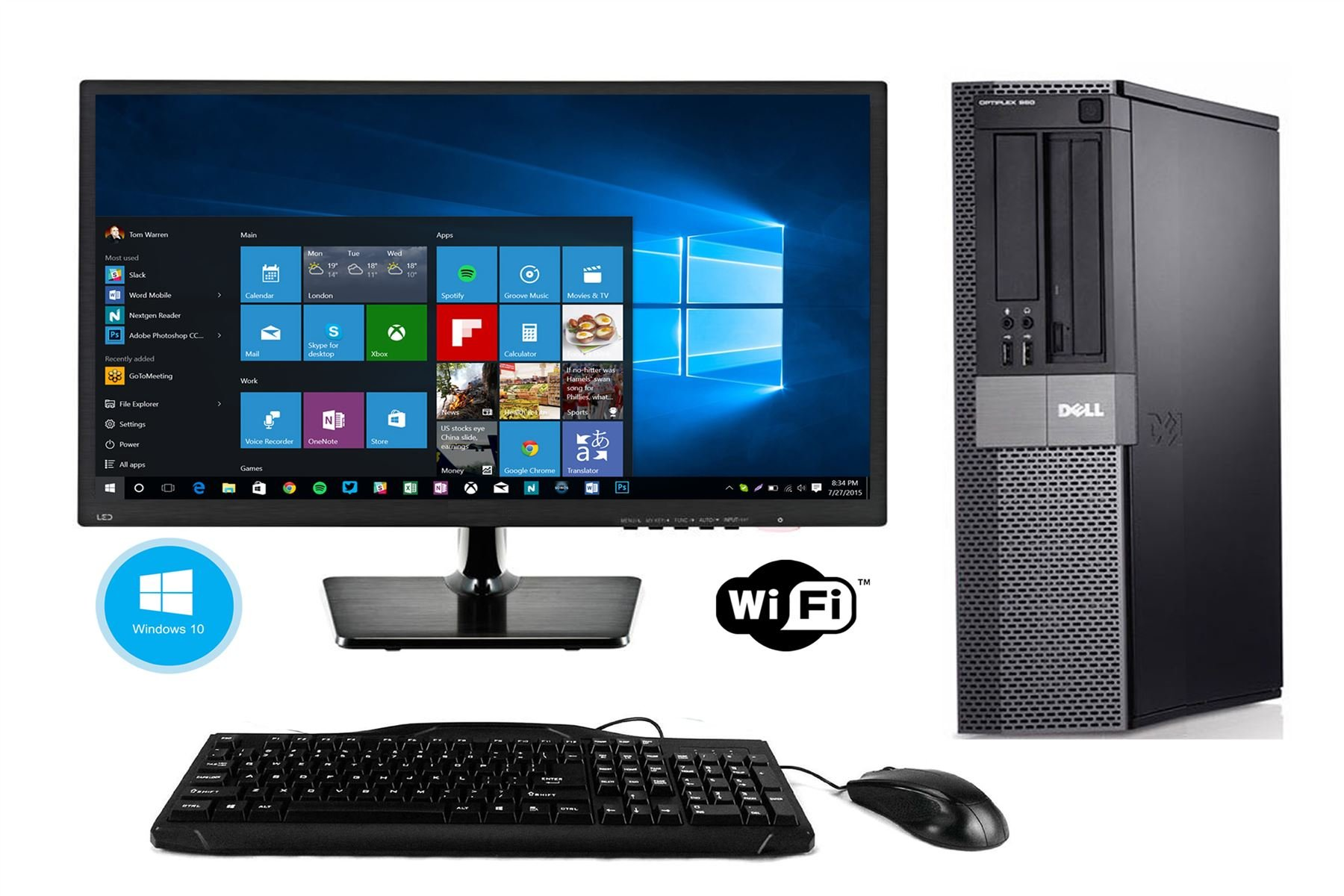 Fast Dell Optiplex 980 Desktop Computer Windows 10 PC Intel Core i5 4gb 250GB