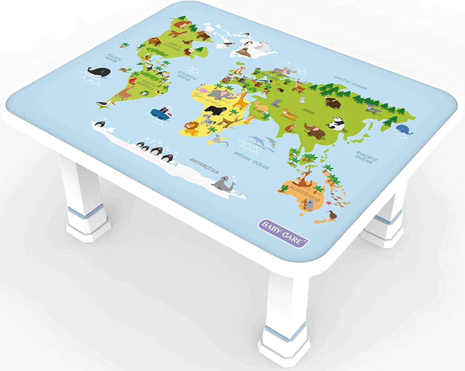 Baby Care Kids Foldable Table (World Map)