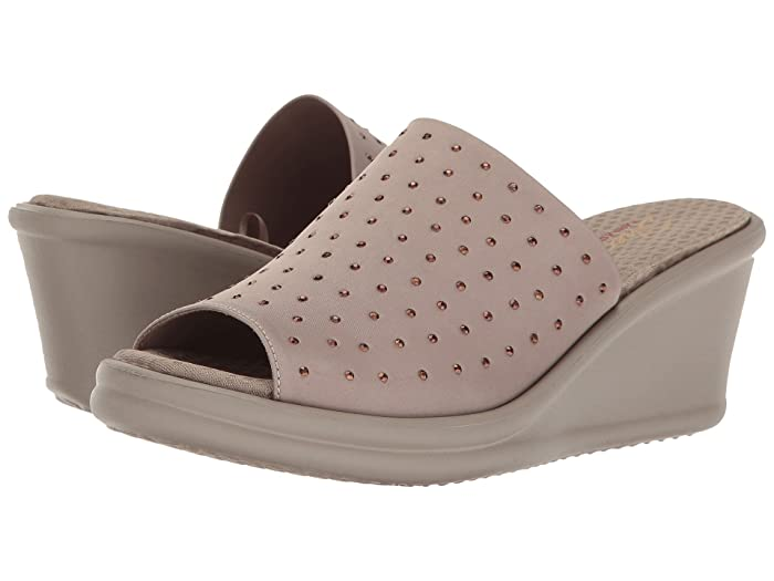 SKECHERS  Rumblers - Silky Smooth (Taupe) Womens Shoes