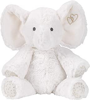 Lambs & Ivy Signature Jamboree Plush Elephant - Marshmallow - Gray, Gold, White