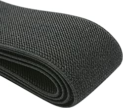 iCraft 2-Inch Wide by 2-Yard Colored Double-Side Twill Elastic Band-Black 11100